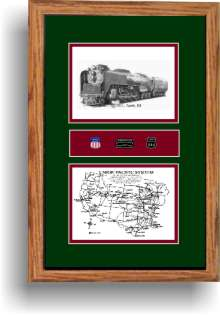 Union Pacific 844 railroad art print
