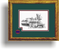 Virginia and Truckee Railroad 21 framed style B art print