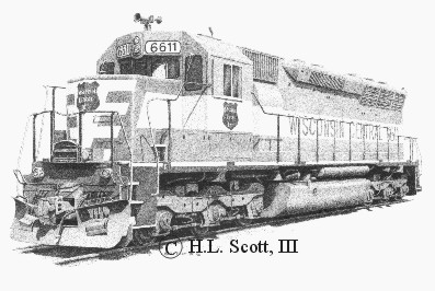 Wisconsin Central Railroad 6611 art print