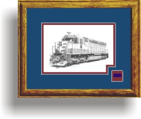 WC #6611 framed style D