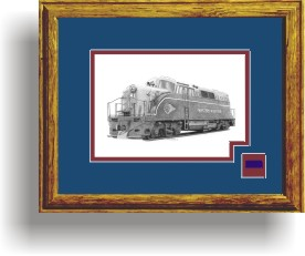 Western Maryland Railroad 81 framed style D