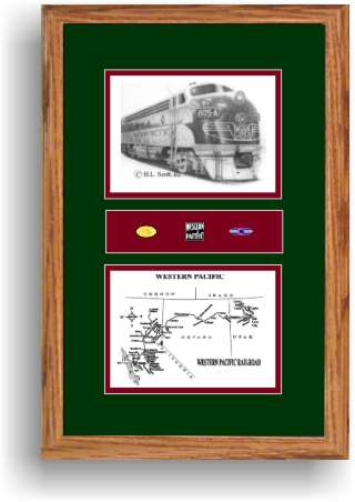 Western Pacific Railroad 805 art print framed