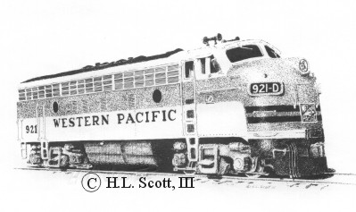 Western Pacific Railroad #921 art print
