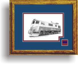 White Pass and Yukon 100 art print framed style D