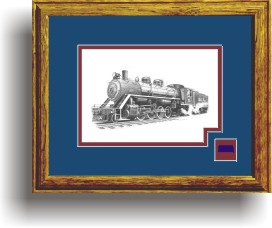 White Pass and Yukon 73 art print framed style D